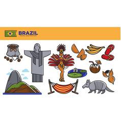 Brazil travel destination promotional poster vector