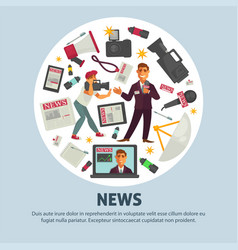 Breaking news poster for journalism profession vector