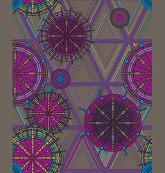 bright pattern of circles and triangles vector image