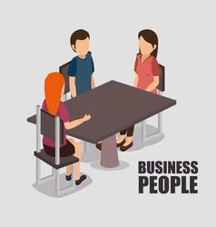 bubusiness people isometrics desig vector image