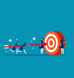 Business team goal achievement concept business vector