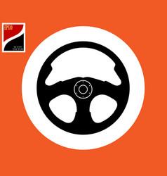 car steering wheel silhouette vector image