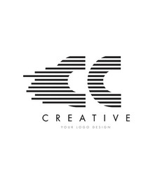 Cc c c zebra letter logo design with black and vector