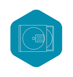 Cd box icon outline style vector