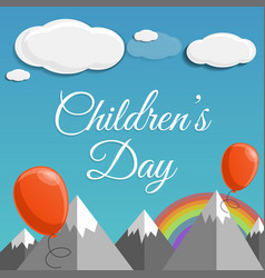 children day concept background cartoon style vector image
