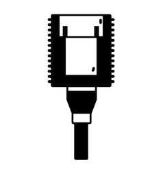 contour electrical power cable connected in the vector image