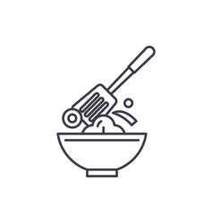 cooking line icon concept cooking linear vector image