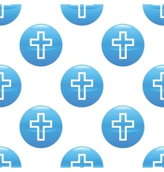 Cross sign pattern vector