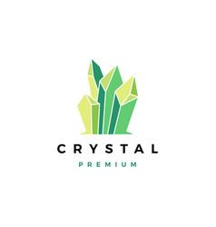Crystal gem stone logo icon vector