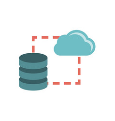 Data storage sync icon vector