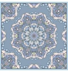 Detailed floral scarf design vector