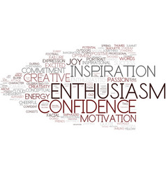 Enthusiasm word cloud concept vector