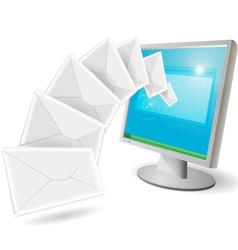 envelopes flying vector image