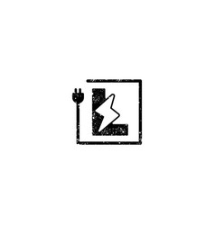 Flash logo initial l symbol electrical icon vector