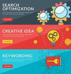 Flat design concept for seo creative idea vector