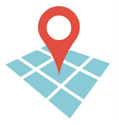 flat location icon color on white background vector image