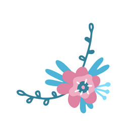 flower sketch floral elements a branch with a vector image