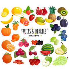 fruits berries composition background poster vector image