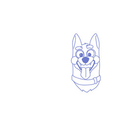 funny dog face open mouth pet avatar head sketch vector image