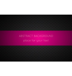 Geometric polygons background with pink place vector