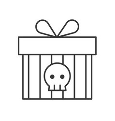 gift box with skull symbol halloween related icon vector image