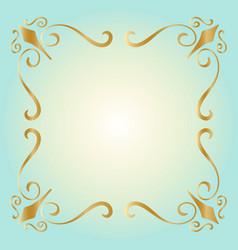 golden square vintage style border frame vector image