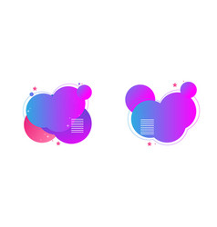 gradient heart shapes vector image
