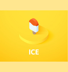 ice isometric icon isolated on color background vector image
