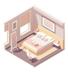 Isometric bedroom vector