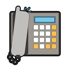 landline phone icon image vector image
