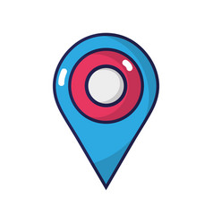 Location symbol to destination explore travel vector