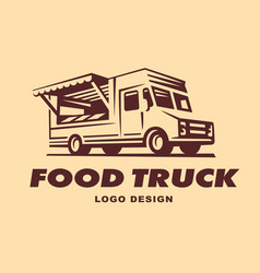 Logos of food truck vector