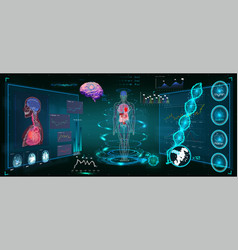medical infographic hud vector image