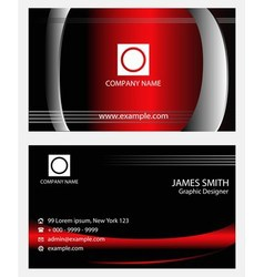 Morden business card template vector