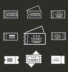 movie ticket icon vector image