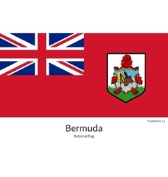 National flag bermuda with correct proportions vector