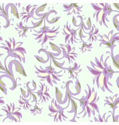 Ornate seamless pattern with abstract flowers vector image