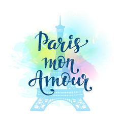 Paris mon amour vector