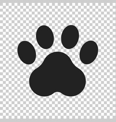 Paw print icon dog or cat pawprint animal vector