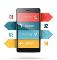 phone presentation template vector image