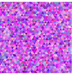 Pink colorful abstract triangle mosaic background vector image