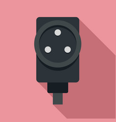 Power socket icon flat style vector