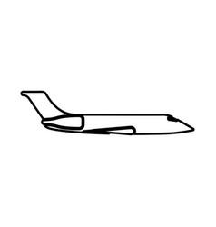 Private airplane black icon vector