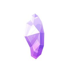 Purple pink crystal gem jewel rock gemstone vector