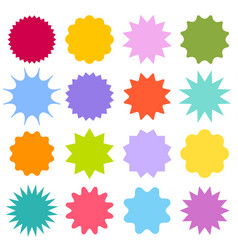 Set starburst sunburst badges vintage labels vector