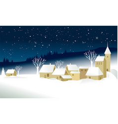 small christmas village vector image