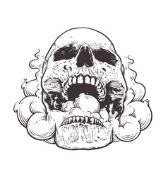 Smoking skull art vector