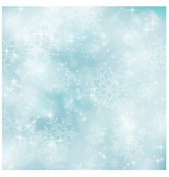 Soft and blurry pastel blue Winter Christmas patt vector image