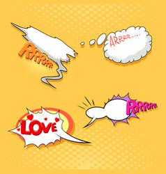 speech bubble set pop art comics style vector image