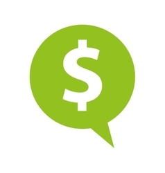 Speech bubble with money symbol vector